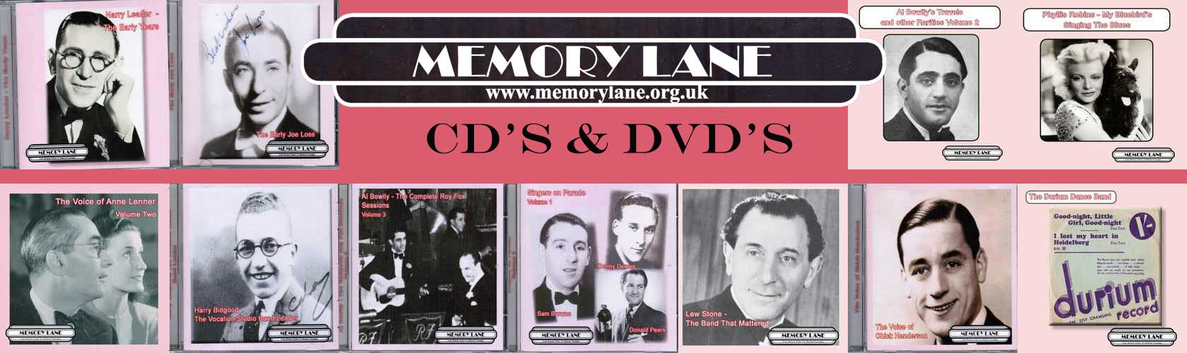 Memory Lane CD's and DVD's